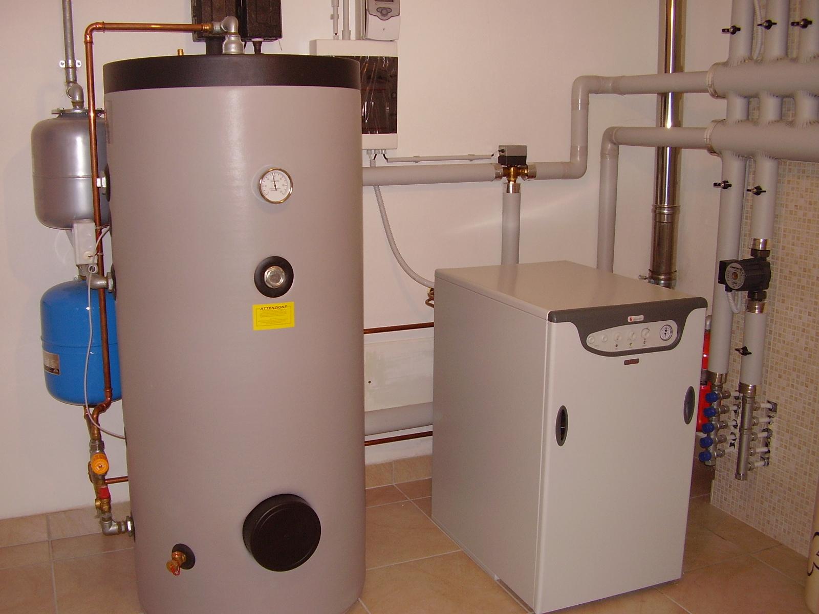 Solare integrato a caldaia a gasolio